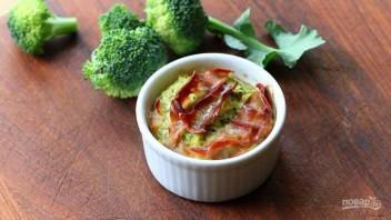 Запеканка из брокколи с салями - фото шаг 8