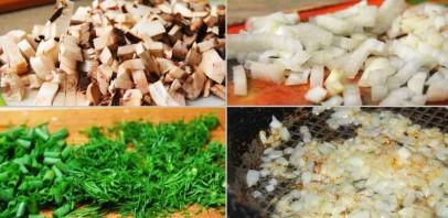 Лаваш с грибами в духовке - фото шаг 1