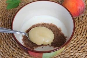 Полезный коктейль из йогурта с персиком и семенами льна - фото шаг 3