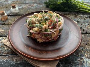 Салат из стручковой фасоли с мясом - фото шаг 11
