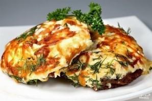 Мясо по-французски с грибами и помидорами - фото шаг 7