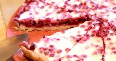 Открытый пирог с брусникой - фото шаг 7