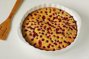 Пирог с клюквой и сметаной - фото шаг 7