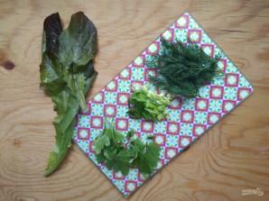 Горячие бутерброды с зеленью и оливками - фото шаг 3