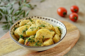 Картофель в кукурузной муке - фото шаг 6