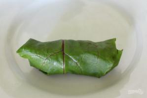 Голубцы в свекольных листьях - фото шаг 6