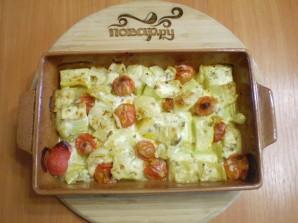 Овощи в духовке под соусом - фото шаг 6