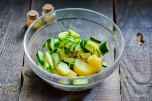 Картофельный салат с морепродуктами - фото шаг 4