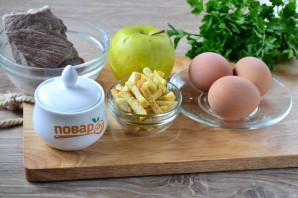 Салат с сухариками и яблоком - фото шаг 1