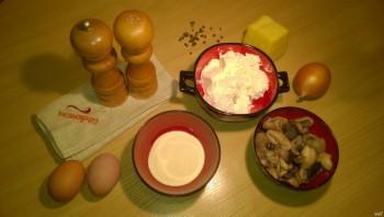 Творожная запеканка с грибами - фото шаг 1