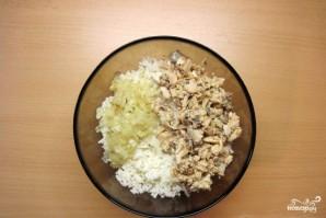 Пирожки с сайрой и рисом - фото шаг 8
