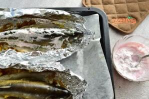 Форель на луковой подушке под сливочно-сметанным соусом - фото шаг 5
