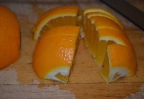 Зеленый чай с апельсином - фото шаг 2