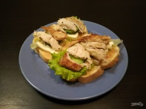 Сэндвичи с курицей и сыром - фото шаг 7
