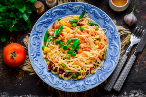 Рисовая лапша с овощами по-китайски - фото шаг 6