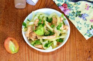 Салат с курицей и зелеными помидорами - фото шаг 9