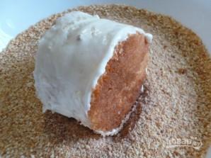 Бисквитные пирожные с кремом - фото шаг 12