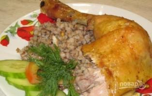Курица, запеченная с гречкой - фото шаг 8