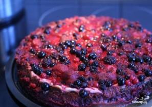 Творожный торт с ягодами - фото шаг 6