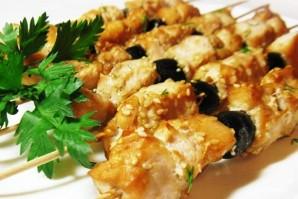 Куриный шашлык в соевом маринаде с маслинами - фото шаг 7