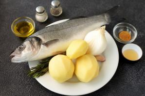 Сибас с картофелем в духовке