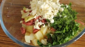 Омлет с картошкой в духовке - фото шаг 3