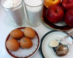 Легкий рецепт пирога с яблоками - фото шаг 1