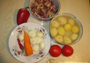 Бараньи ребрышки с картошкой тушеные   - фото шаг 4