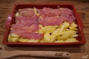 Мясо по-французски в духовке с картошкой - фото шаг 3