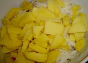 Салат с ветчиной и овощами - фото шаг 4