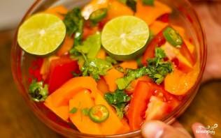 Салат с манго и помидорами - фото шаг 7