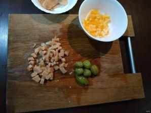 Слоеный салат с апельсином - фото шаг 1