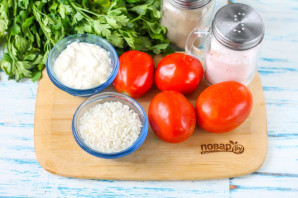 Салат из помидоров с рисом - фото шаг 1
