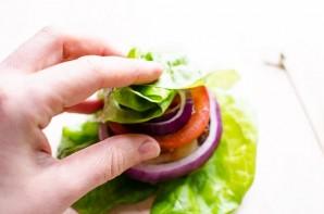 Канапе с индейкой и овощами - фото шаг 9