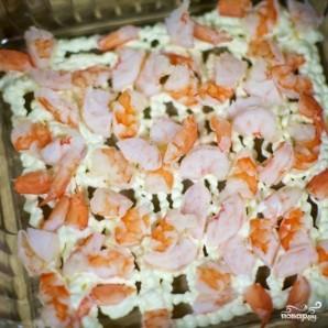 Салат слоеный с креветками - фото шаг 3