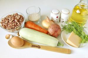 Котлеты с овощами и сыром - фото шаг 1