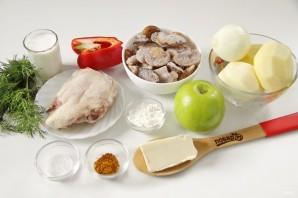 Куриный суп с яблоками - фото шаг 1