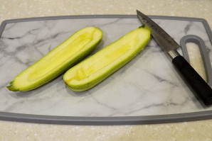 Кабачки с гречкой в духовке - фото шаг 3
