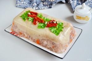 Террин из свиной рульки с каперсами и вялеными томатами - фото шаг 10