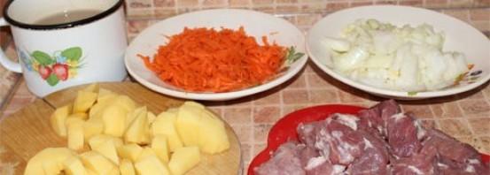 Суп со свининой в мультиварке - фото шаг 2
