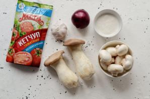 Грибной строганов с кетчупом - фото шаг 1