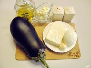 Рулетики из баклажанов с сыром и чесноком - фото шаг 1