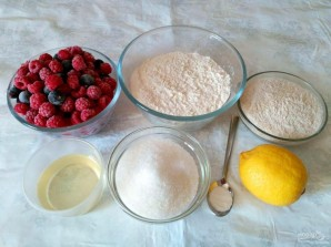 Лимонный крамбл с ягодами  - фото шаг 1
