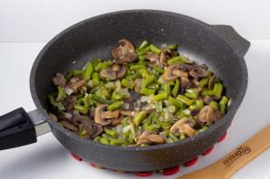Cалат с грибами и зеленой фасолью - фото шаг 4