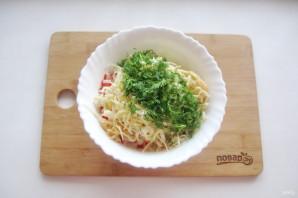 Крабовый салат без яиц - фото шаг 7