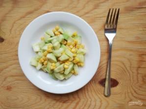 Салат с авокадо и кукурузой - фото шаг 7