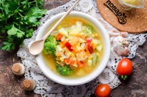 Суп с брокколи и кукурузой