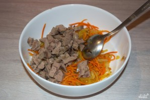 Салат из куриной печени - фото шаг 5