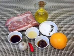 Свинина, запеченная в апельсиновом соусе - фото шаг 1