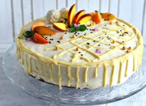 Маковый торт с йогуртовым муссом и белым шоколадом - фото шаг 15